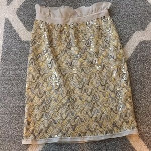 Missoni collection sequin knit pencil skirt size 2